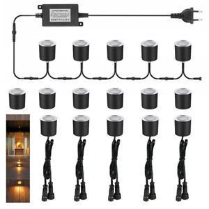 16x LED Bodeneinbauleuchte Einbaustrahler Außen Minispots warmweiß Lampen 230V
