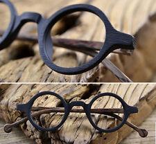 Acetate Vintage Eyeglasses frames Round Eyewear Spectacle Wood style Black+brown