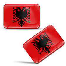 Autocollants Drapeau Albanie Albanais Casque Bicyclette Motorrad Auto Logo Badge