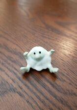 Hagen Renaker Cave Man Green/White Miniature Ceramic Figurine Ice Man