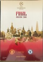 UEFA CHAMPIONS LEAGUE FINAL MOSCOW 2008 MANCHESTER UNITED V CHELSEA