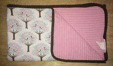 Dwell Studio Target Baby Girls Blanket Brown Pink White Blue Birds Trees Cotton