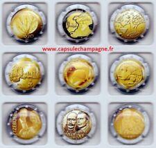 Capsules de champagne série Générique euros N°10 A 18 SUR 27 NEW octobre 2021