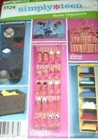 Simplicity 5124 Room Organizers Simply Teen Decor Racks For Hat Shoes Pattern UC