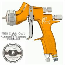 Devilbiss GTi Prolite oro TE10 disolvente/Waterbase Spray Gun 1.3/1.4mm Punta
