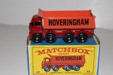 MATCHBOX LESNEY #17D FODEN HOVERINGHAM TIPPER DUMP TRUCK, NICE, BOXED TYPE E