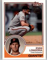 Evan Longoria 2018 Topps Update 1983 TOPPS 35th Ann. Insert Giants #83-33