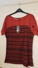 DEBENHAMS COLLECTION TOP SIZE 12 BNWT  RED MIX SUMMER DRESS UP OR DOWN
