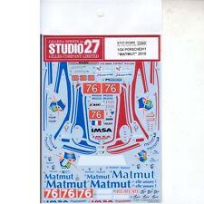 "Studio27 ST27-DC869 GT3R Porsche911 ""Matmut"" #76 2010 Decal for Fujimi 1/24"