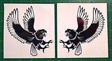 2x EAGLE marine grade decal sticker.Car,Ute,4x4,tinny,motorbike,shed wall tattoo