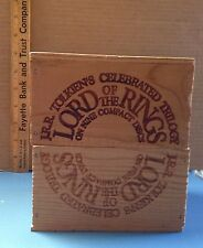 "J.R.R. Tolkien's ""Lord Of The Rings' 9 CD Set In Wooden Collectors Box"
