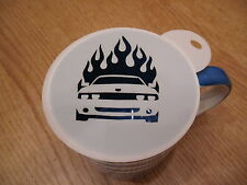 Laser cut flame car design coffee and craft stencil
