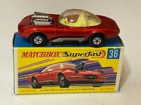 Matchbox Lesney Superfast #36-E Red Draguar in Type G2 Box