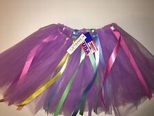 "Childs Tutu w/1/4"" Ribbons Tutu 13"" long Made in the USA!"