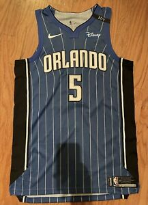 Mo Bomba 2018 Game Worn Used Orlando Magic Jersey With Special RDV Patch