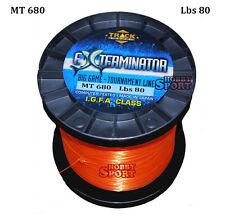 FILO MULINELLO EXTERMINATOR mt 680 ORANGE  TRAINA BIG GAME 80 LB  mm 0,80 IGFA