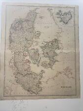 1834 Denmark J Arrowsmith Map From The London Atlas Antique