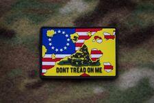 Betsy Ross Gadsden Flag Flag 3D PVC Morale Patch MoeGuns DTOM 2A Patriot Militia