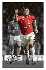 ROY KEANE - MANCHESTER UNITED AUTOGRAPHED SIGNED A4 PP POSTER PHOTO