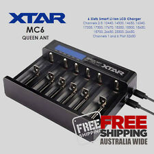 XTAR Queen Ant MC6 USB Input Six Channel 1-6 Cell Lithium Ion Battery Charger