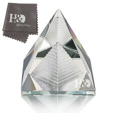 Feng Shui Egypt Egyptian Crystal Clear Pyramid in pyramid Healing Prizm Amulet