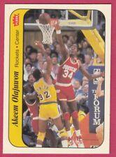 1986-87 Fleer Basketball Sticker # 8A Akeem Olajuwon Houston Rockets