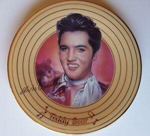 "Elvis Presley Decorative Plate Collection ""Teddy Bear"" 22-Karat Gold-Banded Gift"