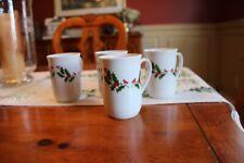 Holly Mugs Set of Four