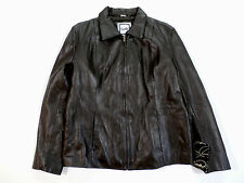 Excelled Men's Open-Bottom Leather Jacket Brown Size Large NWT