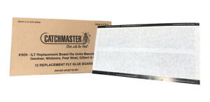 """Replacement Fly Light Glue Boards (12 Pack 16.3 """" x 9"""") Made in USA"""