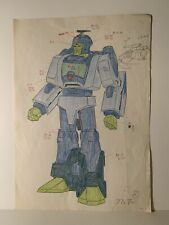 G1 Transformers Blurr Takara Animation Bible  Color Assignment Sheet 1/1