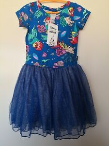 Nwt Bonds Size 5 Girls Disney Aerial Tutu dress, cotton top and cotton lined