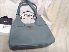 Gorgeous Prada Baby Blue Pebbled Leather Hobo