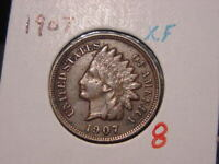 1907 INDIAN HEAD CENT XF NICE ATTRACTIVE COIN COMBINED SHIPPING