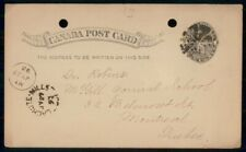 Mayfairstamps Canada 1893 Lachute Mills Split Ring QV Stationery to Montreal Que