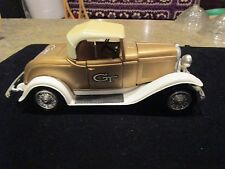 ERTL Roadster metal car gold white no box  - LOTL