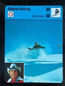 BILLY KIDD 1979 Sportscaster Card #70-19 ALPINE SKIING