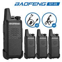 4x Baofeng GT-22 UHF Handheld 2W Mini Walkie Talkie Two-Way Radio for Business