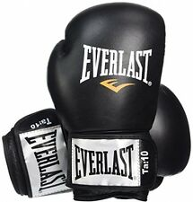 Everlast Fighter Leather Boxing Training Gloves - 12oz, Black/Red UK POST FREE