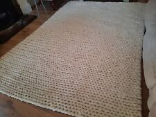 RRP £325 La Redoute Diano pure wool knitted beige rug 230X160cm ex display