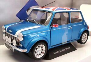 Solido 1/18 Scale Model Car  S1800607 - Mini Cooper Sport - Blue