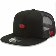 San Francisco 49ers New Era COACHES Trucker 9FIFTY Snapback Hat - Black