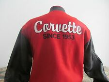 Corvette Since  1953 Varsity Leather sleeves Jacket Mens Small