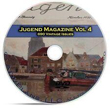 Jugend, Classic German Art Nouveau Magazine Jugendstil, 690 Issues Vol 4 DVD C27