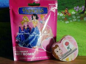 Disney Lot of Magic Towel Belle Beauty Princess Bath Bomb Fizzies Strawberry NEW