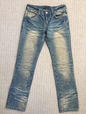 Women Fashion Denim Blue Jeans Low Waist Zip Up Size S
