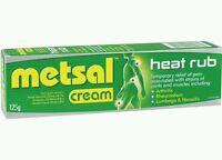 2× Metsal Heat Rub  Dual Action Cream 125G - OzHealthExperts