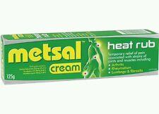 2�— Metsal Heat Rub  Dual Action Cream 125G - OzHealthExperts