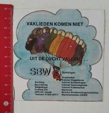 ADESIVI/Sticker: SBW-vaklieden Komen niet uit de Lucht Vallen (180217160)