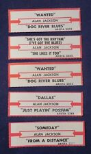 Lot of 5 Jukebox Tags 45 Rpm Title Strips Alan Jackson
